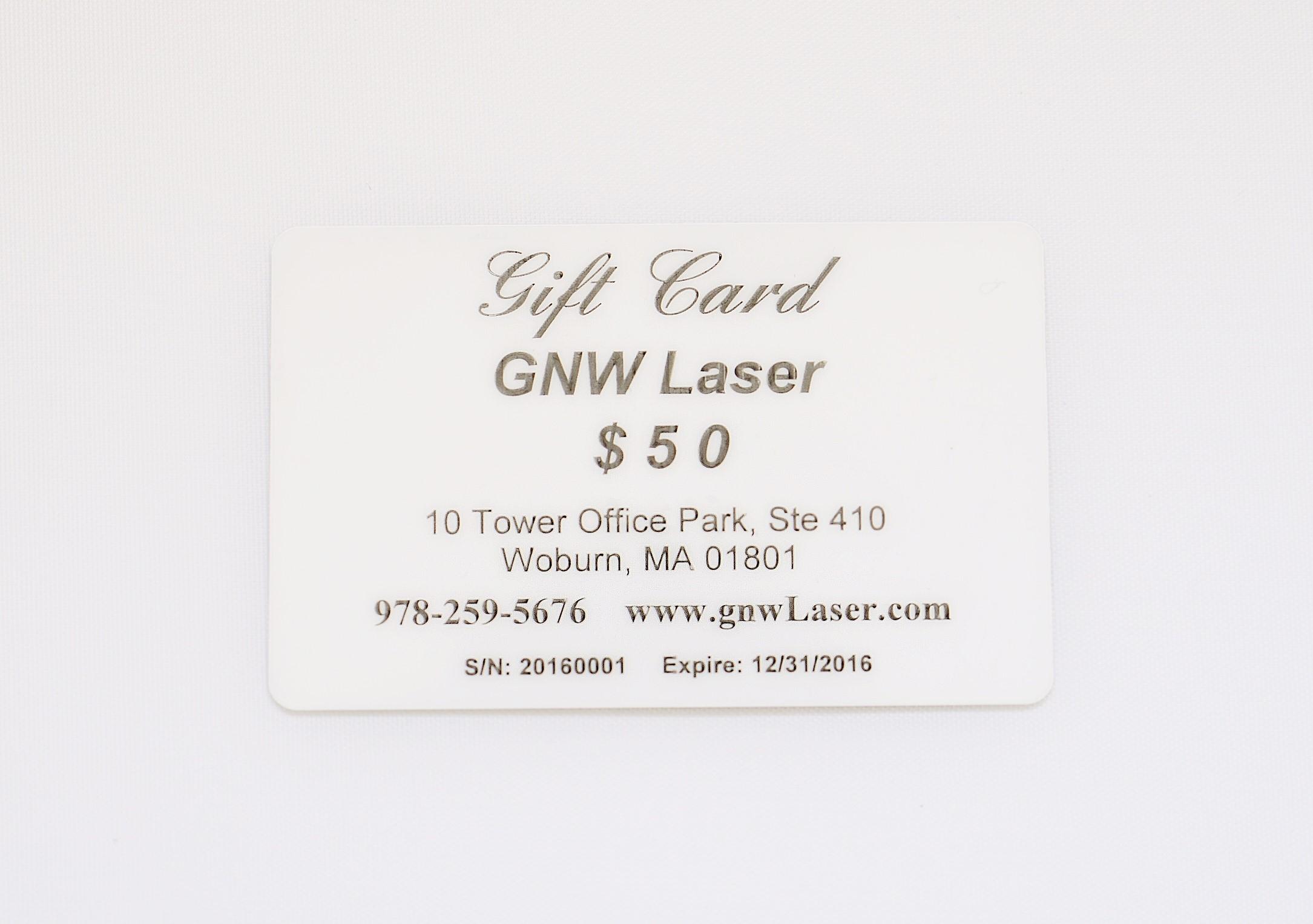Personalized Business Card /Gift Card – GNW Laser